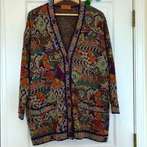 Missoni Authentic Vintage Cardigan From Italy RARE